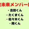朝倉未来チャンネルのメンバー紹介【吉田くん/佐々木くん/タクマくん/岡くん】これだけでOK!
